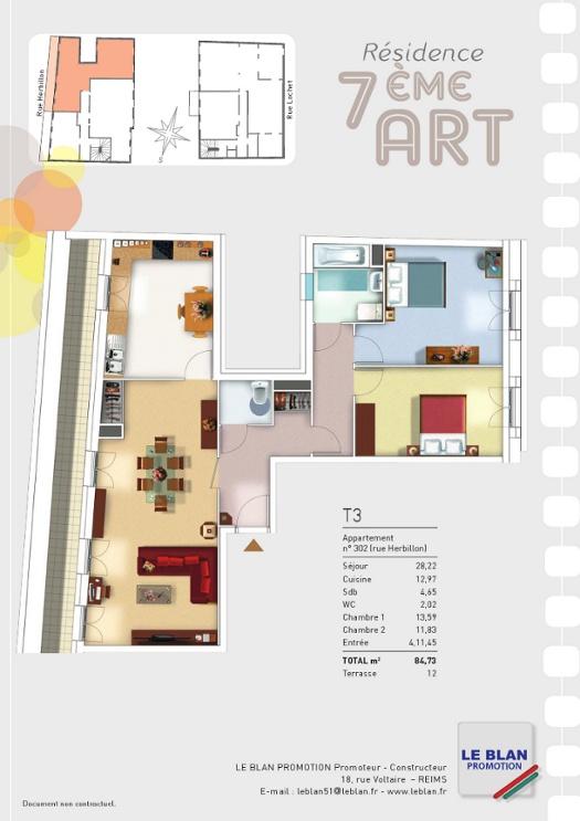 7 me art appartement neuf marne le blan promotion. Black Bedroom Furniture Sets. Home Design Ideas
