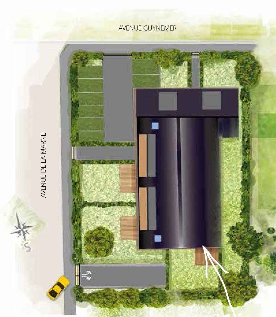 villa caroline appartement neuf nord le blan promotion. Black Bedroom Furniture Sets. Home Design Ideas